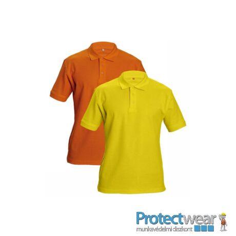 DHANU tenisz póló sárga S