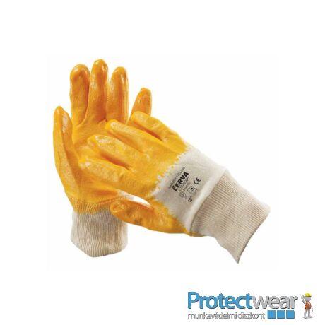 HARRIER sárga mártott nitril kesztyű -7