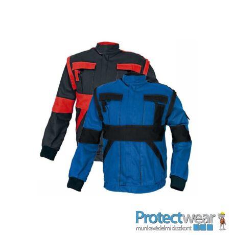 MAX kabát 260 g/m2 kék/fekete 50P, Hosszított fazon