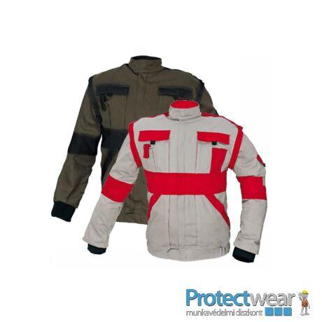 MAX kabát 260 g/m2 szürke/piros 44