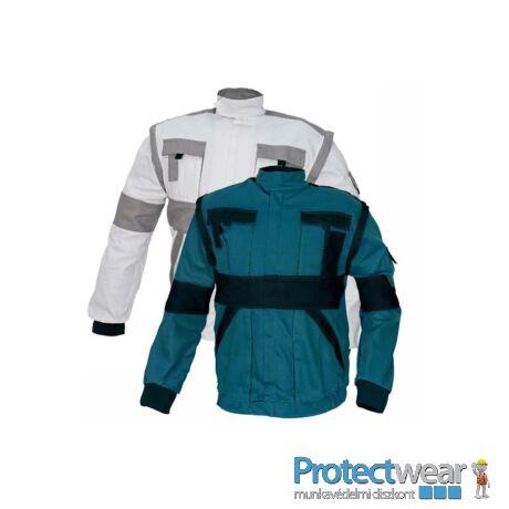 MAX kabát 260 g/m2 zöld/fekete 50P, Hosszított fazon
