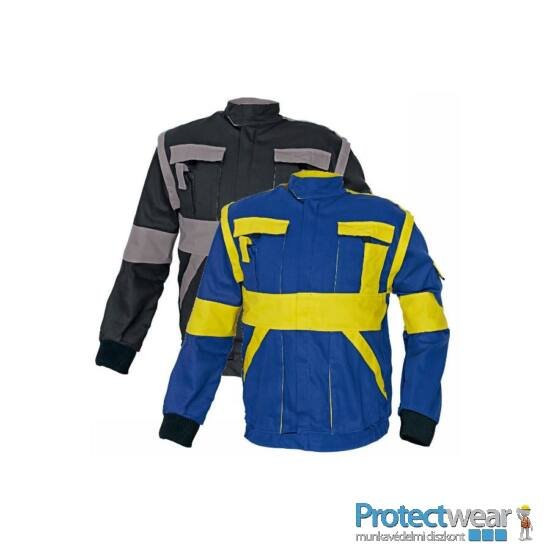 MAX kabát 260 g/m2 fekete/szürke 44