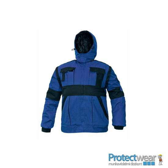 MAX WINTER kabát 260 g/m2 kék/fekete 48