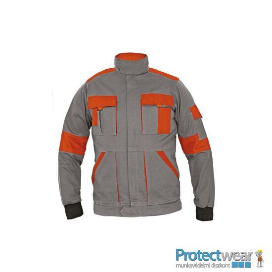 MAX kabát 260 g/m2 sötétszürke/narancssárga 44